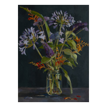 Annie Waring, Agapanthus and Crocosmia